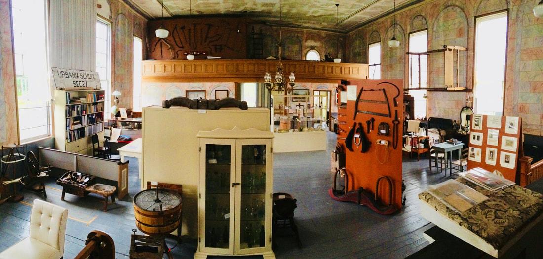 Interior of the Lower Selma Museum.