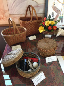 Here is a detailed view of Mi'Kmaw baskets