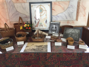 Table displaying various Mi'Kmaw related objects