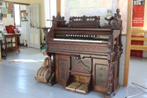 Antique organ on display